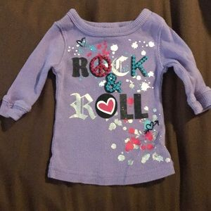 Amy Coe Rock and Roll 🎸 Glitter baby shirt